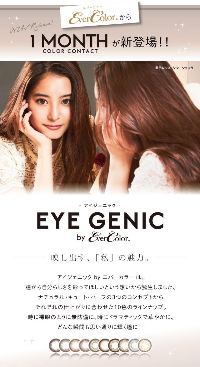 1ヶ月(マンスリー)カラコン アイジェニック マンスリー EYE GENIC Monthly 2枚[AISEI]