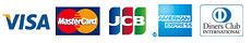VISA MasterCard JCB AMEX ダイナース